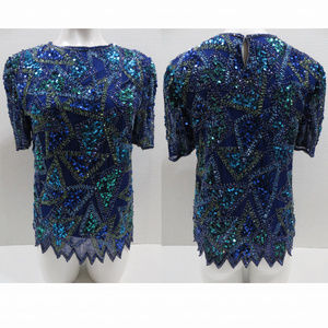 Styleworks top Small beaded sequined evening VTG